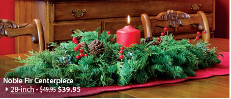 Noble Fir Centerpiece, 28-inch NOW $39.95