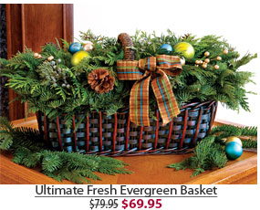 Ultimate Fresh Evergreen Basket NOW $69.95