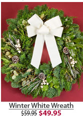 Winter White Wreath NOW $49.95