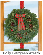Holly Evergreen Wreath